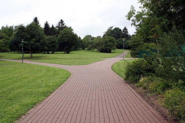 https://pixabay.com/en/away-road-park-trees-fork-228675/
